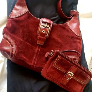 Coach Hobo Purse with Matching Wristlet